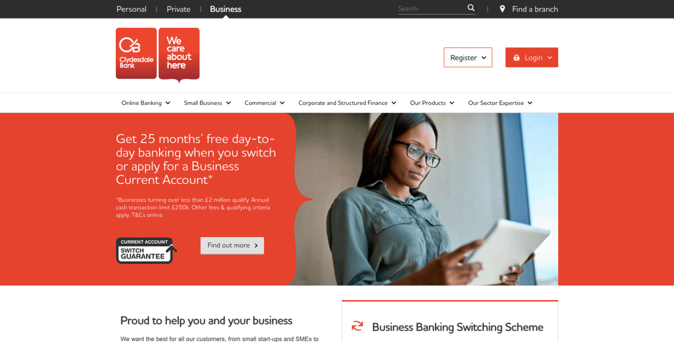 Clydesdale Bank Business Banking