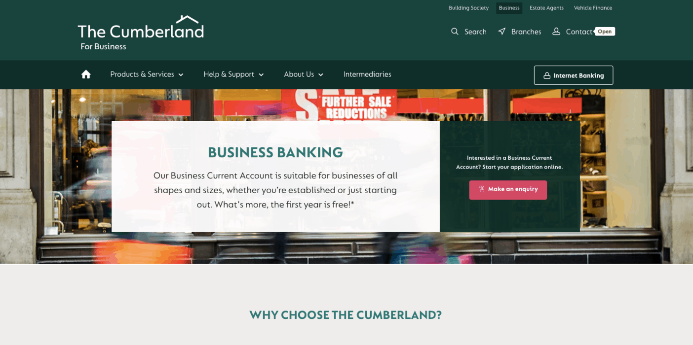 Cumberland Building Society Business Banking