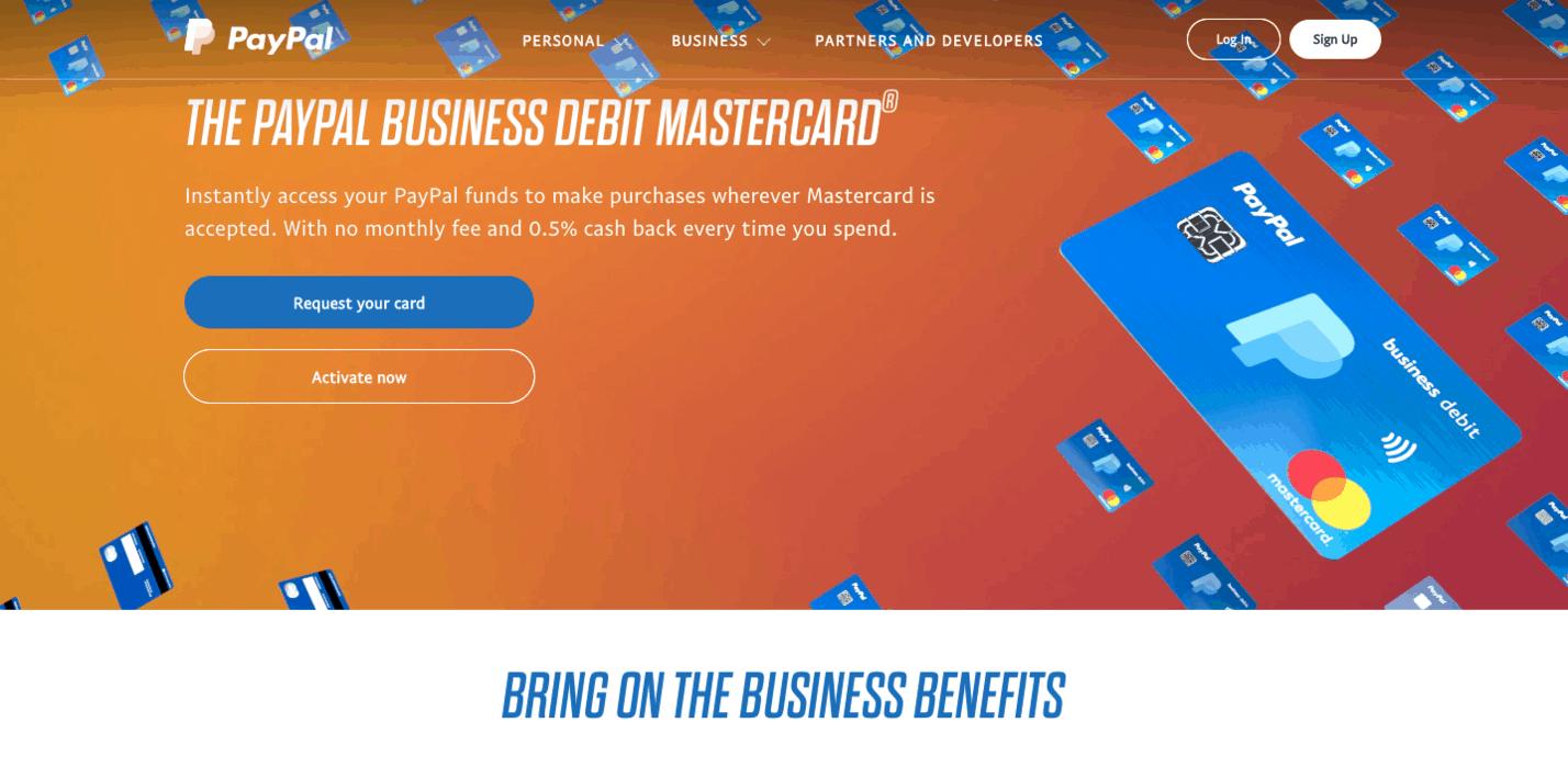 PayPal Debit Business Banking
