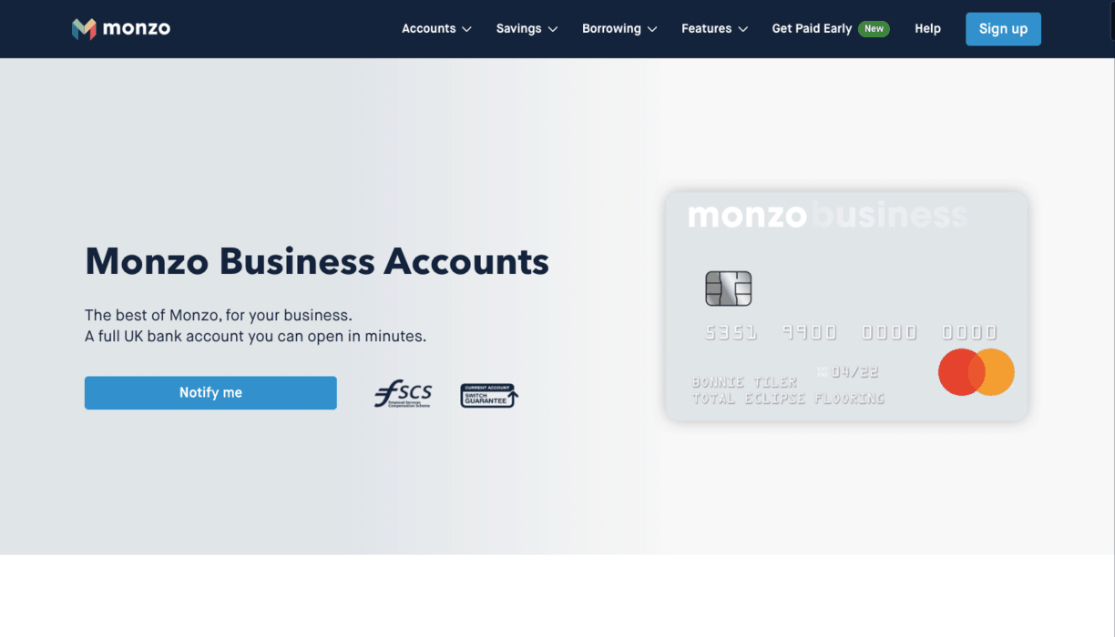 Monzo Business Banking